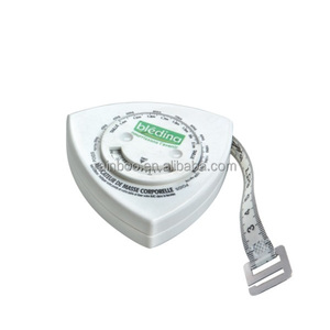 Triangle shape body health plastic waist tape measure with logo printed