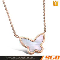 Special butterfly shell necklace bali gemstone jewelry