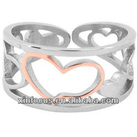 Inox Jewelry Women's Small Hearts 316L Stainless Steel Ring body jewelry finger ring