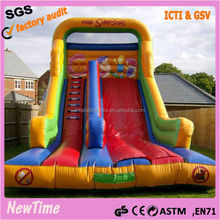 2016 wet dry commercial inflatable water slide