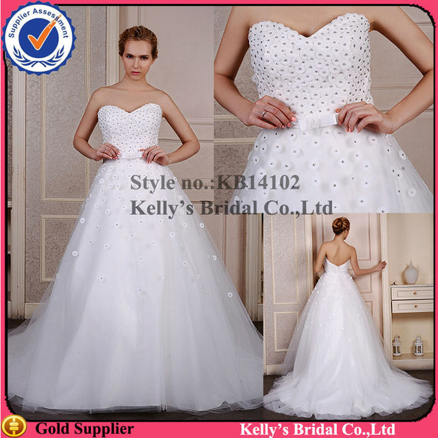 Most lovely Sweetheart neckline design & backless crystal piece bodice Big ball gown pictures of women in nightgowns