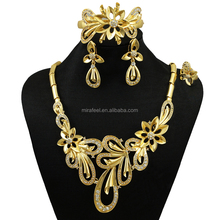 Fancy design cheap price flower shaped wholesale african costume jewelry set guangzhou jewelry making supplies