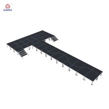 Aluminum Customizable Plywood peculiar shape concert event acrylic wedding dance stage