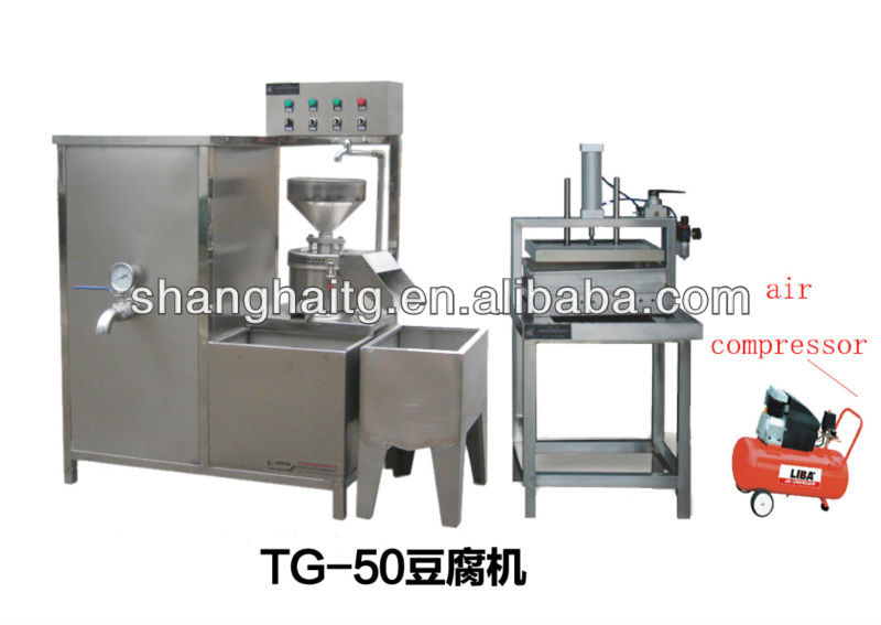 TG-50 Shanghai Tiangang Automatic Bean curd and firm tofu making machine factory direct sales