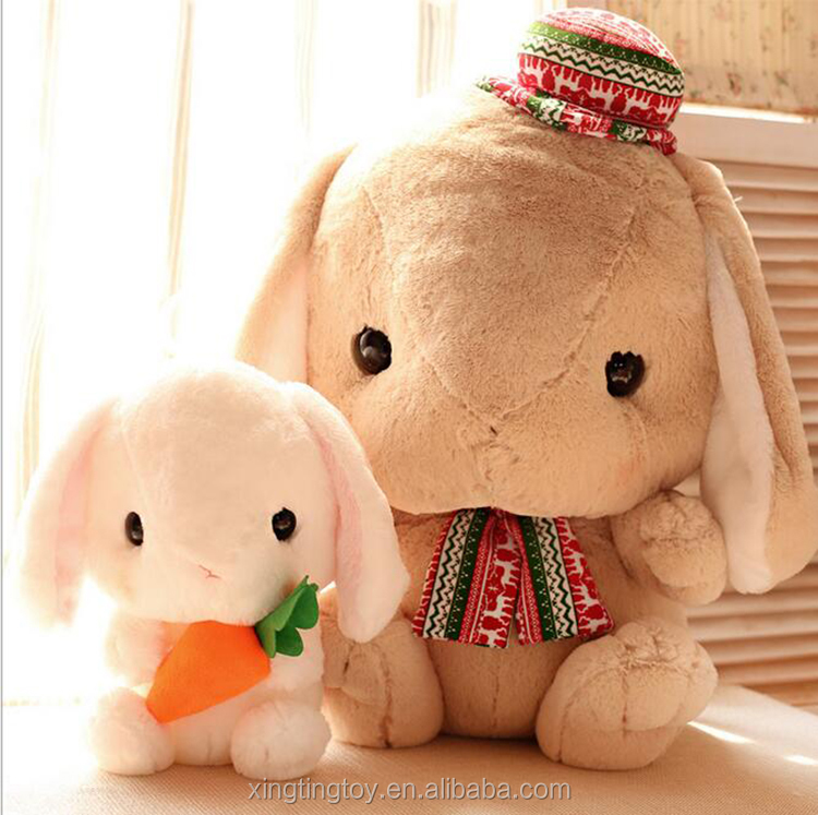 2016 high quality soft rabbit toys plush toys bunny with carrot