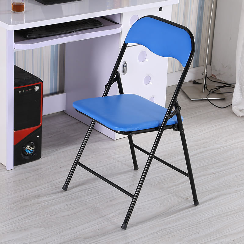 Wholesale high quality blue padded metal folding chairs
