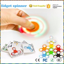 LED Glowing Anti-Stress Fidget Hand Spinner Boredom fingertip gyro Flashing Triangular Torqbar