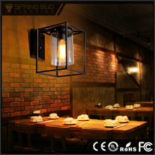 LOFT European rustic style decorative exterior glass covered led / edison bulb indoor wall light for bar