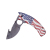 New design 440 knife with aluminum handle Aluminum handle Camo pattern