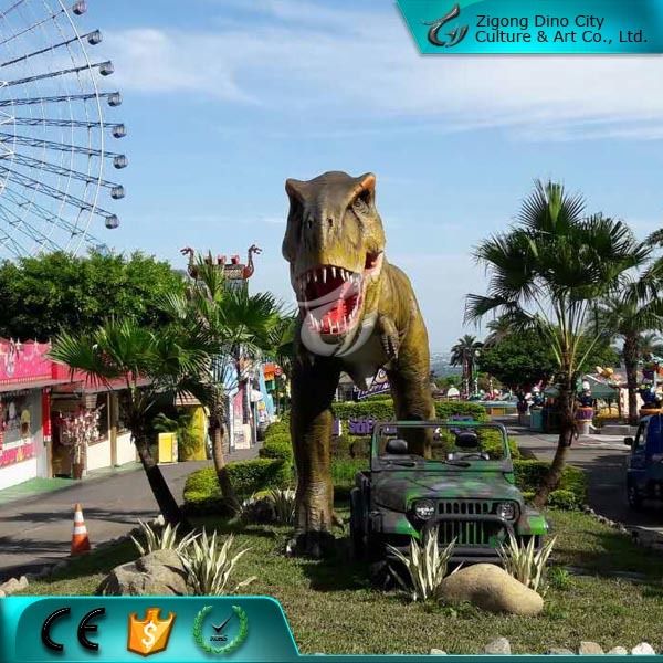 Theme Park Life Size T rex Artificial Dinosaur for Sale