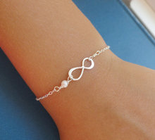 Sterling silver personalized infinity charm bracelet for 2014