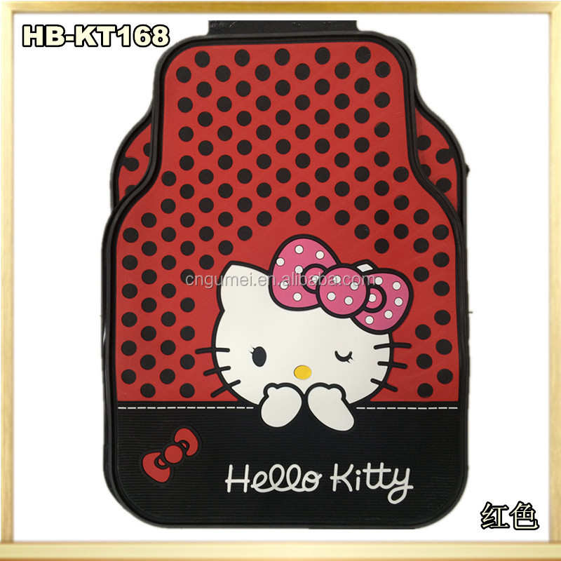 Cute car floor for hello kitty/ Pink car mats for lady