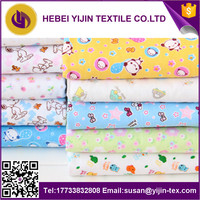 alibaba china stocklots wholesale reactive printed 100% cotton flannel fabric