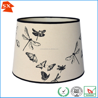 retro style cream black nature butterflies dragonflies printing lighting shade