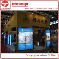 Yota offer rent service, customized exhibition auto spray painting booth for CHFE Show