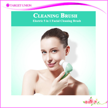 Top Selling Vibration Face cleansing brush 5 in 1 Electric Facial Brush