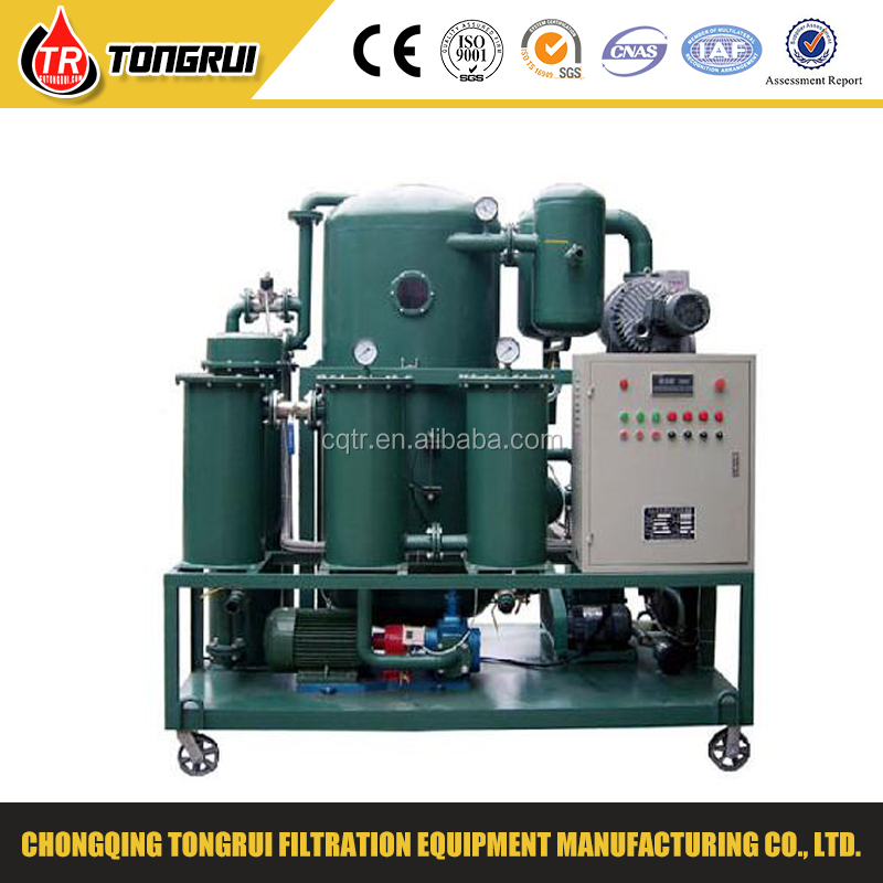 mobile double stage Vacuum recycled Oil Purifier /Oil filter