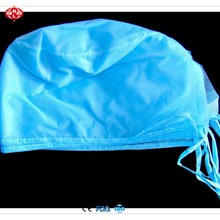 Surgeon Caps Disposable Hair non woven blue surgical doctor cap for hospital