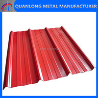 red color metal roof tile zinc coated sheet