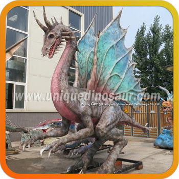 Realistic Mechanical Dragon Dinosaur Statues