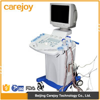 "China Cheap price White+Blue 14""non-interlaced monitor Trolley ultrasound machine for pregnancy"