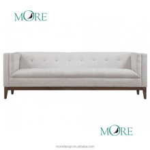new American style wood legs sofa three seater Atwood Sofa living room furniture