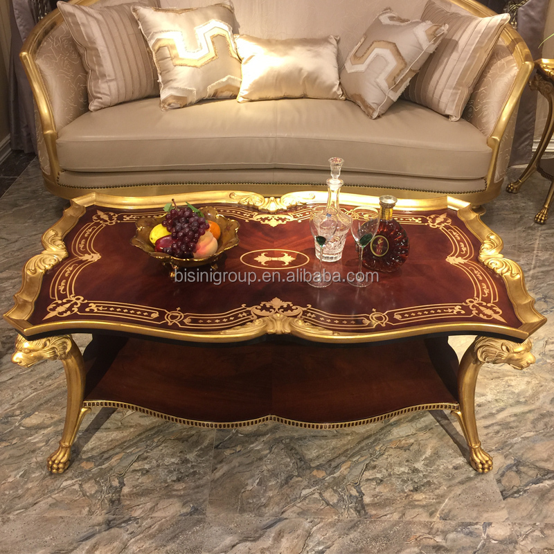 Luxury Antique Victorian Style Living Room Boulle Work Top Rectangle Coffee Table BF12-08314a