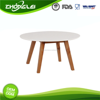 Quality Assured Simple Style Good Prices Round Wood Table