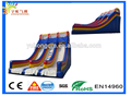 Latest giant colorful of blue inflatable three ways dry slide for sale