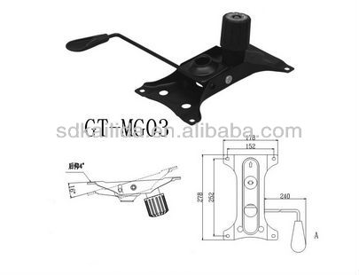 2013 hot sales chair black base plates