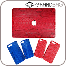 Luxury genuine python skin leather case for MacBook air/pro and iphone 6/7 genuine leather laptop cover