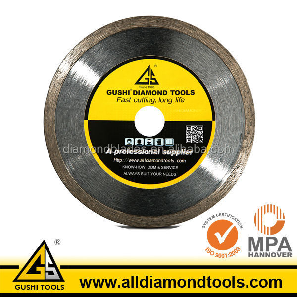Wet Continuous Rim Diamond Blade for Cutting Glass