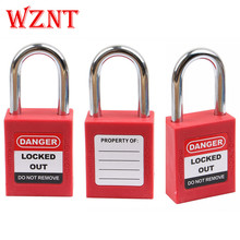NT-38S 38mm steel shackle osha standard safety padlock with same <strong>key</strong> with different <strong>key</strong>