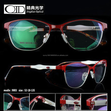 Lady glasses frame new design stainless frame optical frame for woman 9003