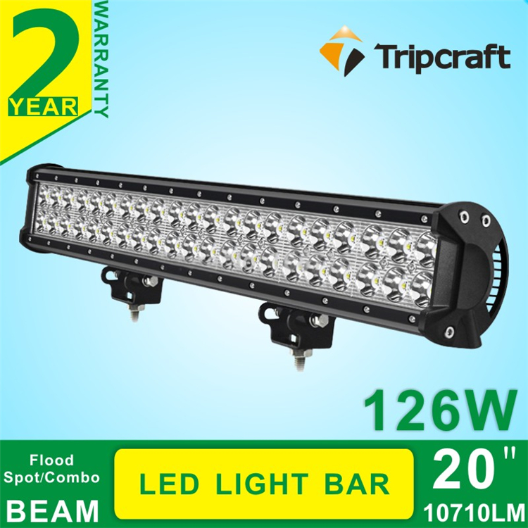 2016 New 9-32V DC 126W LED DRIVING LIGHT BAR 10710LM super bright Led Light Bar for ATV, 4WD, SUV auto part