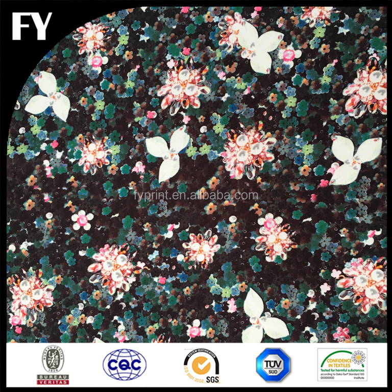 2017 new design digital printed 86 polyester 14 spandex fabric wholesale