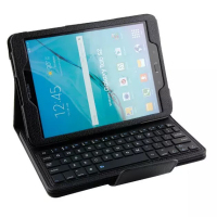 Detachable ABS Bluetooth Keyboard Portfolio Leather Case Cover for For Samsung Galaxy Tab S2 9.7'' T810 T815 Tablet