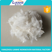 Raw White Polyester Staple Fiber for Asphalt Concrete