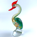 blown miniature small glass bird figurines for sale