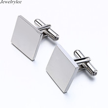 Fashion Luxury Mens Gifts Blank Square Cufflinks Manufacturer