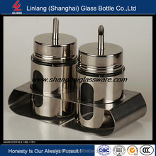 Linlang hot welcomed glass products,spice jar with wooden lid