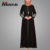 New Model Dubai Abaya Wholesale Hotsale Long Sleeve Black Embroidery Abaya Islamic Clothing