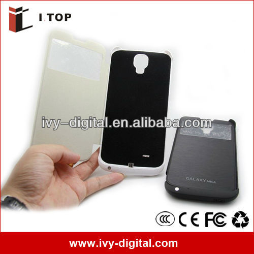 4000mAh Backup Battery for Samsung Galaxy Mega 6.3 i9200 with Flip Cover (SE039-2)