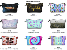 polyester printed zipper pouch make up bag promotional cosmetic bag
