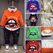 Baby Sweater rainbow taxi printing wholesale design wool sweaters for boys