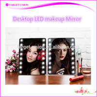 electric 5x magnifying cosmetic mirror led lighted desktop makeup mirror