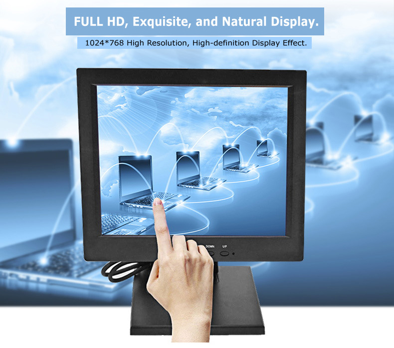TFT LCD panel 10 inch pos touch screen monitor