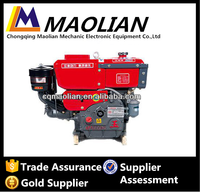 new good quality JIANGDONG 12 HP Low Noise Air Cooled Electric Start Diesel Engine For Sale