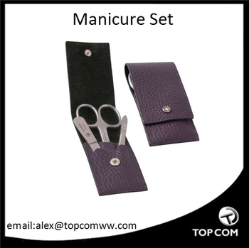 Portable manicure set with pouch, travel manicure set with bag