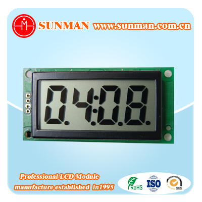 Customised transparent segment display TN and STN reflective small lcd module